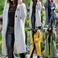 Womens Long Sleeve Knitted Cardigan Sweater Casual Outwear Coat Jacket Plus