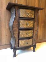Chinese Style 4 Drawer Storage Unit Bedside Cabinet Table Fantastic Design