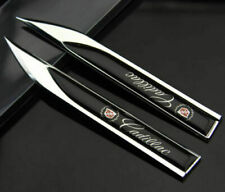New 2x for Cadillac motors blade fender Badge decal landmark 3D Emblems metal