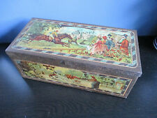 Antique Horse Racing Rowing Cycling Hunting and Fishing Humorous sports tin