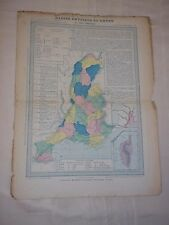 ANCIENNE CARTE / BASSIN PHYSIQUE DU RHONE / HACHETTE / CIRCA 1870 - 1875