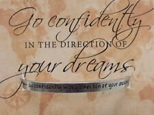 Cuff Bracelet Go in the Direction of Your Dreams Recycled Lead Free Pewter USA