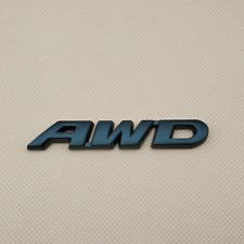 3D Metal Matte Black AWD Letters Logo Badge Car Rear Trunk Emblem Sticker Decal