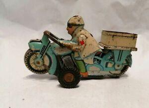 Tin Toy Service Motorcycle Shanghai China MF 703 Friction Type ambulance rar