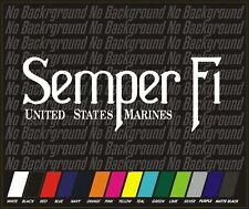 USMC Marine Corps marines semper fi fidelis Sticker Decal Car Truck 8