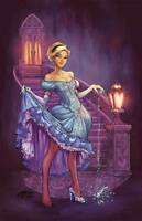 SIYA OUM SHATTERED SLIPPER PRIMETIME COLLECTIBLES EXCLUSIVE 11 X 17 PRINT DISNEY