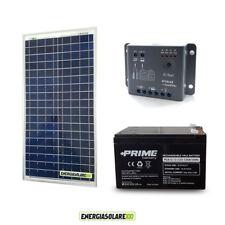 Kit placa solar 30W 12V regulador de carga 5A Epsolar y Batería 12Ah barco carav