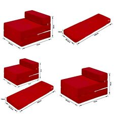 Jumbo Cord Fold out Chair Sofa Bed Z Guest Folding Futon Single Chairbed Gh