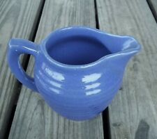 Vintage Cobalt Blue Beehive Pitcher Bauer ? Ringware 20 oz. Ribbed 5 inches Tall