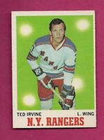 1970-71 TOPPS # 65 RANGERS TED IRVINE  EX-MT CARD  (INV# A7703)