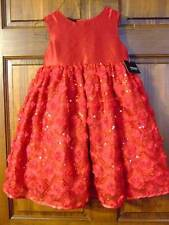 NWT ~ HOLIDAY EDITION red dressy sequin Christmas Valentine dress ~ girls 4 4T