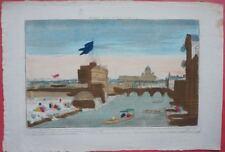Rome: Le pont st Ange /18éme