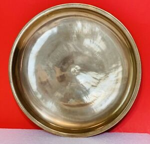 """VINTAGE BRASS BRONZE 11"""" PLATE TRAY Made in South Korea"""