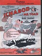 Katrina 1949 Bing Crosby Ichabod and Mr Toad Sheet Music