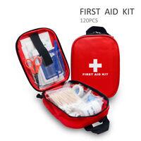 120PCS  Aiuto Kit Primo Soccorso Emergenza Per Trekking Asseggiate Compact  Set