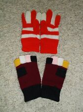 CHILDREN'S KNITTED GLOVES 1PR GLOVES. 1PR FINGER-LESS .ONE SIZE. APPROX AGE 3/5Y