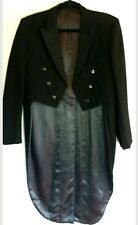 Keith Courtenay mens vintage pure new wool tuxedo steampunk tail coat size L
