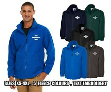 EMBROIDERED FLEECE JACKETS - High Quality Personalised Full Zip Work Wear