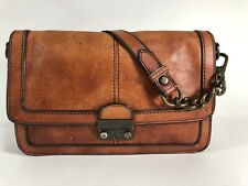 FOSSIL Cognac Leather REISSUE  Flap Shoulder Bag Clutch