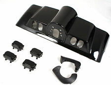 Vivid Black Inner Fairing Cap kit w/ switch cap fit Harley Street Electra Glide