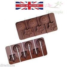 STELLA IN SILICONE Faccina Sorridente cioccolato a forma di lecca lecca lollipop Bake Ware Stampo kawaii