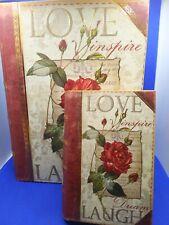 2 Punch Studio Decorative flower/love inspire dream laugh Book Box Collectible