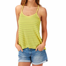 Roxy Twin Lakes Tank Top Womens XL Limeade ARJKT03087 Yellow Shirt Cotton Knit