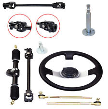 1 Set Steering Wheel Kit 110cc Go Kart Tie Rod Rack Adjustable Shaft