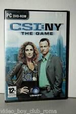 CSI NY THE GAME GIOCO NUOVO PC DVD EDIZIONE ITALIANA PAL UBISOFT 36306