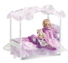 LE TONNER TINY BETSY McCall Lilac Canopy BED SET: Bed, Doll, Outfit Teddy bear +