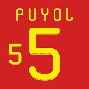 Puyol 5. Spain Home football shirt 2010 - 2011 FLEX NAMESET NAME SET PRINT