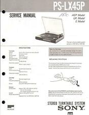 Sony Orig. Service Manual für PS-LX 45P