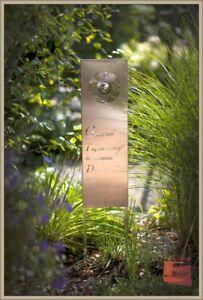 """Garten Deko Schild """"TAG"""" Gartenstecker Spruch Tafel EDELSTAHL matt 120 cm -56"""