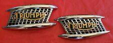 NOS Triumph Tank Emblems T120 TR6 6T 1960 - 1965 Large 4 Gallon Tank