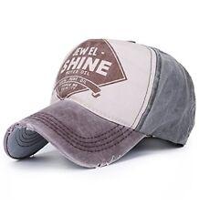 Vintage Trucker Cap Distressed Gas Oil Print Baseball Hat Brown
