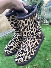 Ladies Pony Hide Leopard Print UGG size UK 4.5