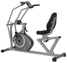Sunny Health & Fitness Cross Training Magnetic Tension Recumbent Exersice Bike
