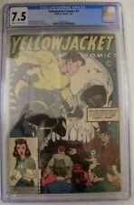 YELLOWJACKET COMICS 7 CGC 7.5 CHARLTON 1946 BATTEFIELD MANDEL GELLER DELAY