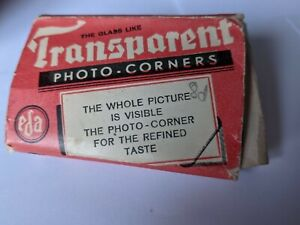 Vintage black photograph Corners In Original Box ( and they still stick!).