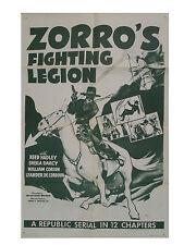 ZORRO's FIGHTING LEGION  1939 SERIAL DVD COMPLETE