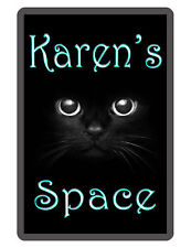 Personalized Cat theme Sign Printed with YOUR NAME Aluminum Sign BLACK CAT D#243
