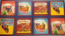 Little Engine that Could Square Blocks Quilt Panel Cotton Fabric Another Spin