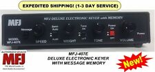 MFJ 407E - Deluxe MFJ Curtis Electronic CW Keyer With Message Memory NEW MODEL