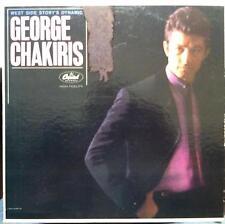 George Chakiris LP VG w/Poster T-1750 Mono 1962 Capitol USA Milton Raskin 1st