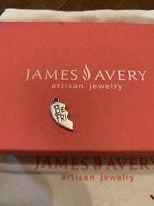 Retired James Avery Sterling Silver 925 Best Friend Half Heart Mini Charm
