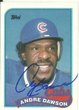 Andre Dawson Chicago Cubs/Baseball Hall of Fame Personally Autographed Card
