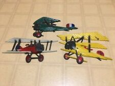 Vintage 1975 Sexton Homco Wwi Airplanes (Set of 3) Metal Wall Decorations
