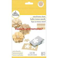 ek tools NATURAL TEXTURE SHEETS 8 Total Pieces, Use w/ punches on a hard surface