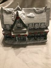 Partylite Christmas Village Town Candle Shop Ceramic Tea Light Votive Holder