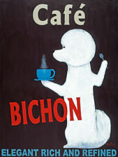 Café Bichon by Ken Bailey Signs Print 8x10